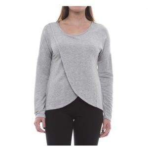 Yogalicious Tulip-Hem Shirt - Long Sleeve - Grey M